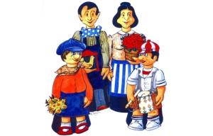 Batisse, Lalie, Biloute, Trinette
